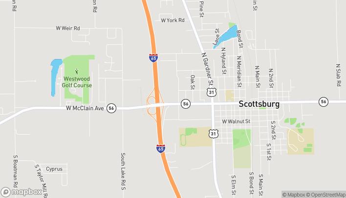 Mapa de 1220 W McClain Ave en Scottsburg