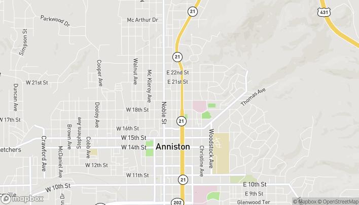 Mapa de 1830 Quintard Ave en Anniston