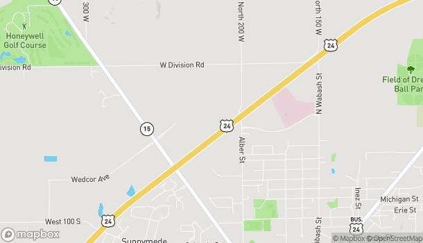 Mapa de 1611 N Cass St en Wabash