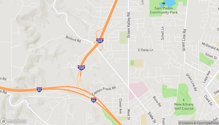 Mapa de 2224 State Street en New Albany