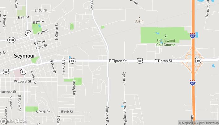 Mapa de 1510 E Tipton Street en Seymour