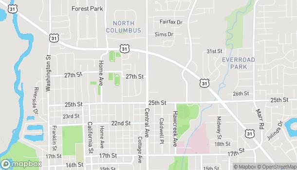 Mapa de 2615 Central Avenue en Columbus