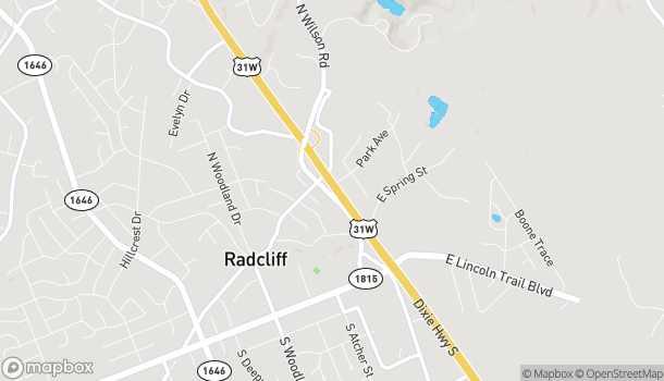 Map of 495 North Dixie Blvd in Radcliff