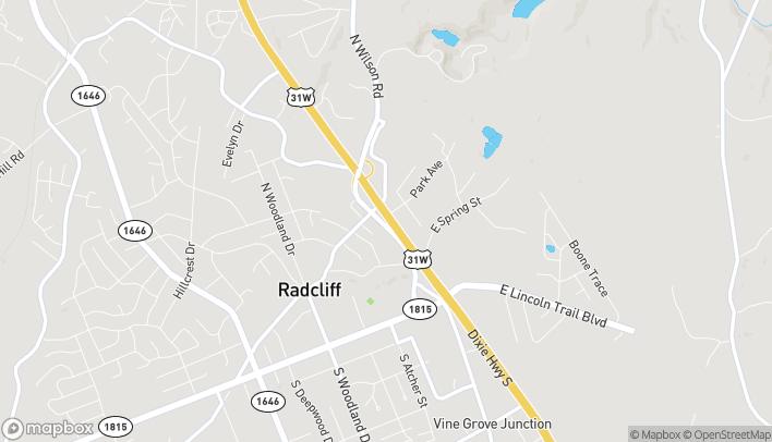Mapa de 495 North Dixie Blvd en Radcliff