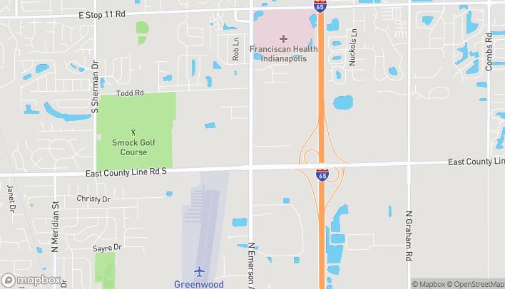 Mapa de 8855 S. Emerson Ave en Indianapolis