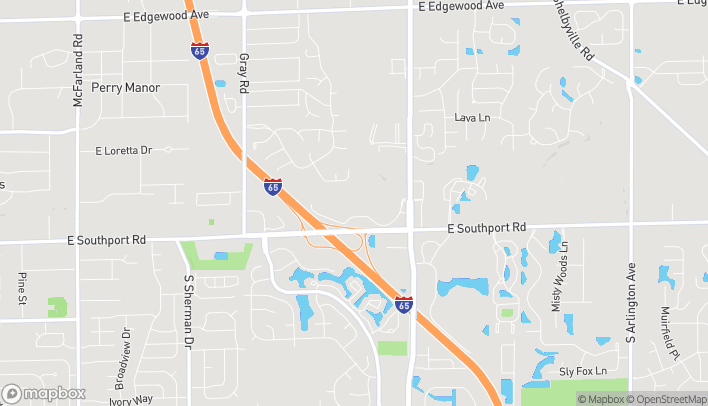 Map of 4850 E Southport Rd in Indianapolis