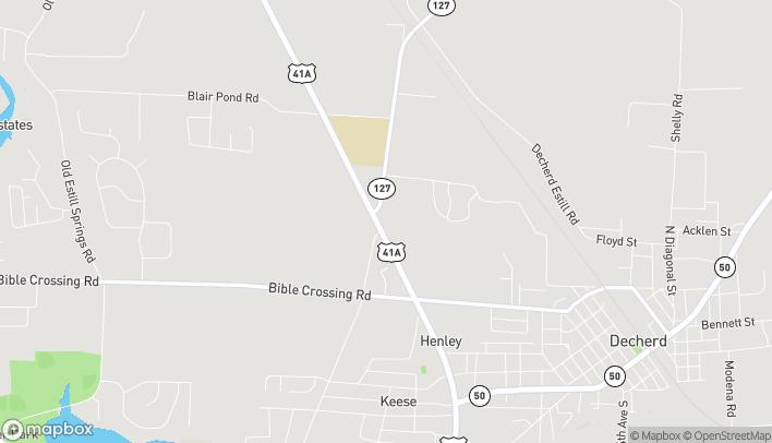 Mapa de 2604 Decherd Blvd en Decherd