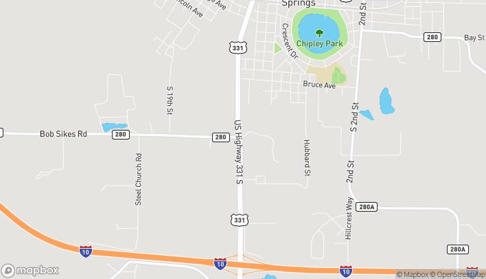 Mapa de 1179 Hwy 331 South en Defuniak Springs