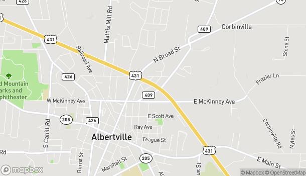 Mapa de 7001 N US 431 en Albertville