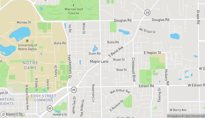 Mapa de 54600 Ironwood Rd en South Bend