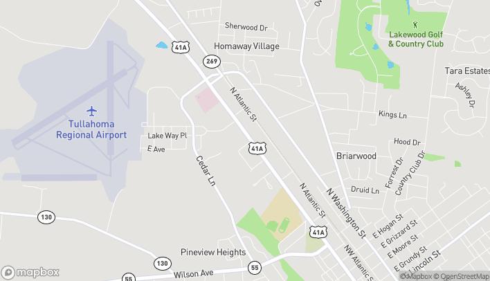 Mapa de 1603 N Jackson Street en Tullahoma