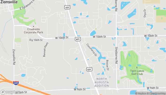 Mapa de 10485 N Michigan Road en Carmel