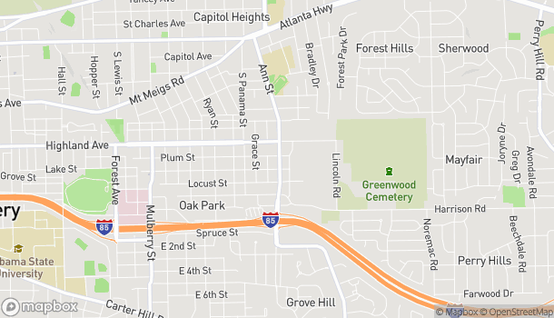 Mapa de 806 Ann Street en Montgomery