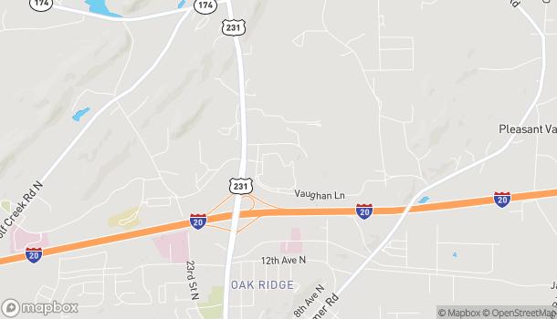 Mapa de 71 Vaughan Ln en Pell City