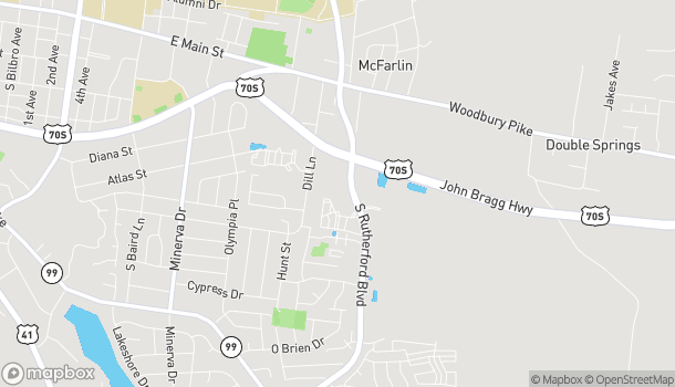 Map of 2943 S Rutherford Blvd in Murfreesboro