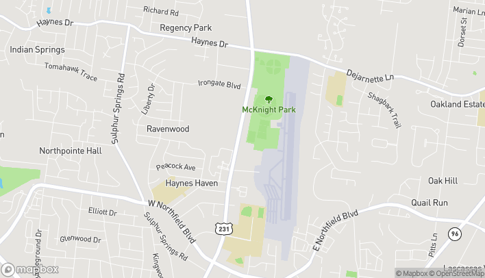 Map of 2104 Memorial Blvd in Murfreesboro