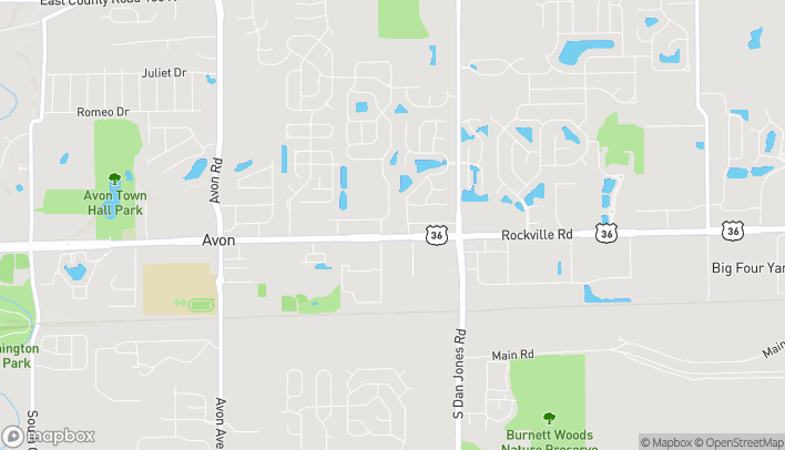 Map of 7724 E US Highway 36 in Avon