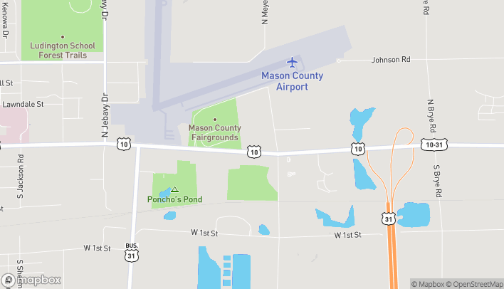 Map of 4916 W US Highway 10 in Ludington