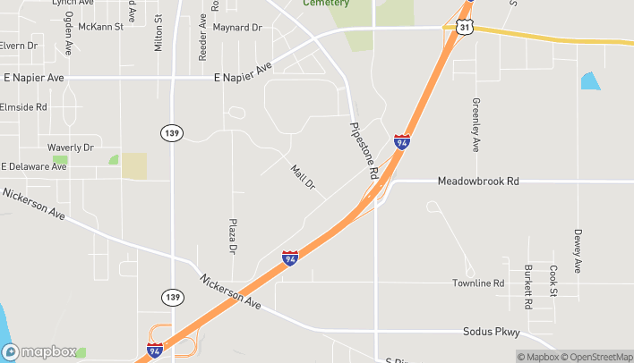 Map of 1359 Mall Drive in Benton Harbor