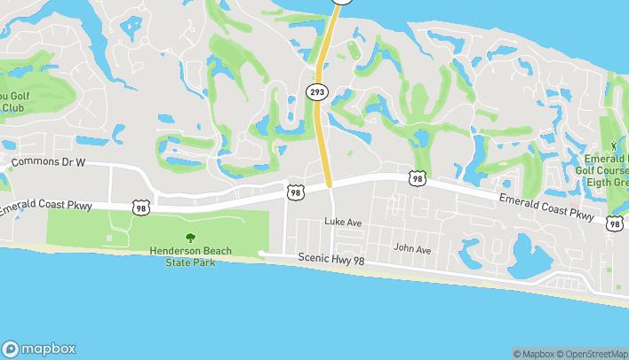 Mapa de 34907 Emerald Coast Parkway en Destin