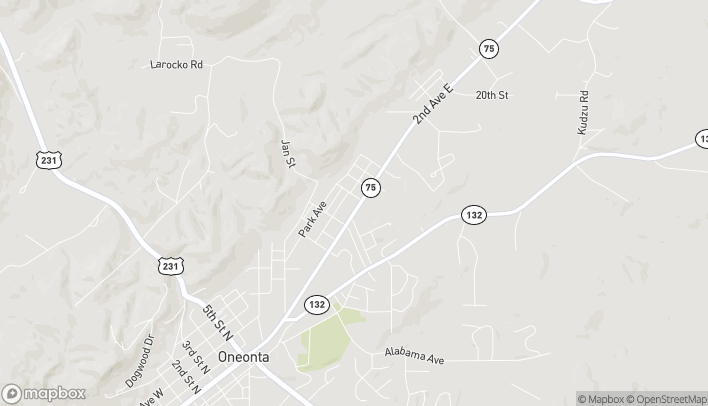 Map of 1106 2nd Ave E in Oneonta