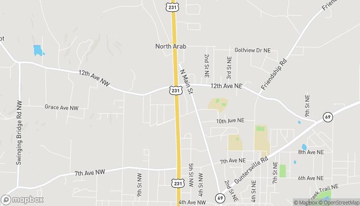 Mapa de 1126 N. Brindlee Mnt. Parkway en Arab