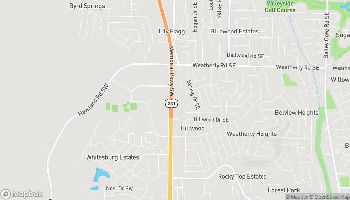 Mapa de 10055 South Memorial Pkwy en Huntsville