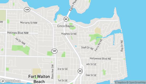 Map of 75 Eglin Pkwy NE in Ft. Walton Beach