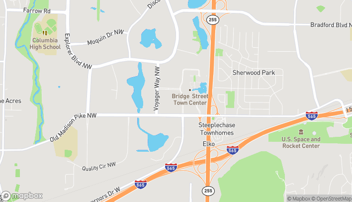 Map of 6886 Governors Drive West in Huntsville
