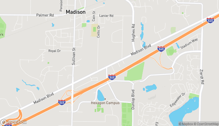 Map of 8640 Madison Boulevard in Madison
