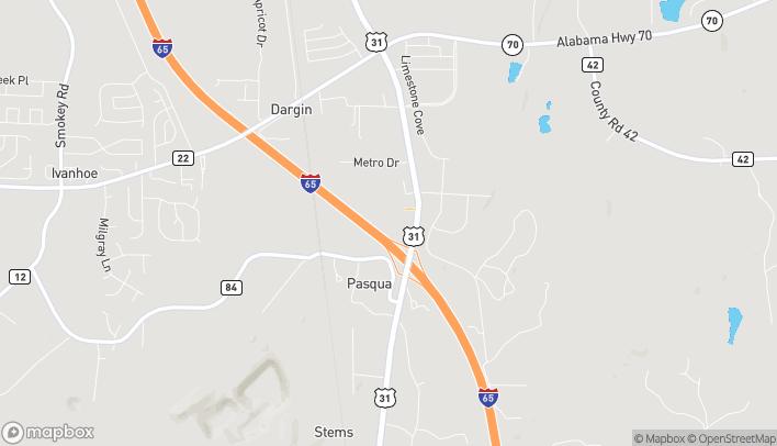 Mapa de 297 Supercenter Drive en Calera