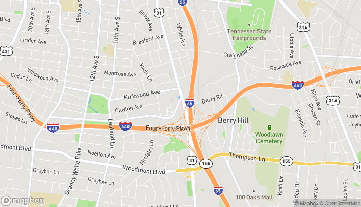 Map of 2631 8th Ave S in Nashville