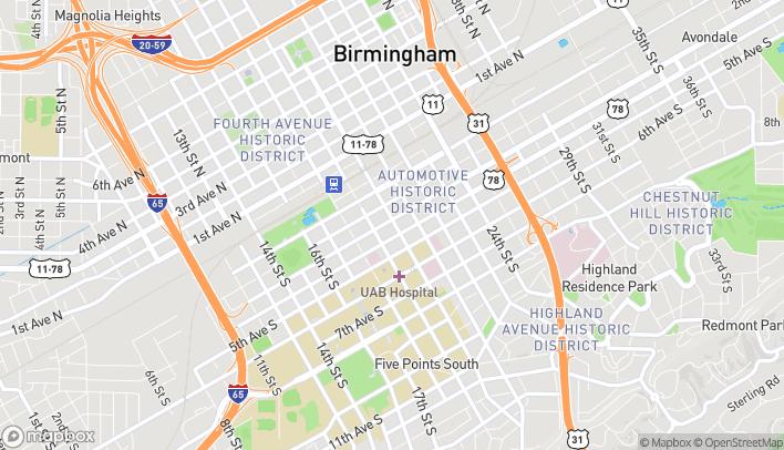 Mapa de 306 20th Street South en Birmingham