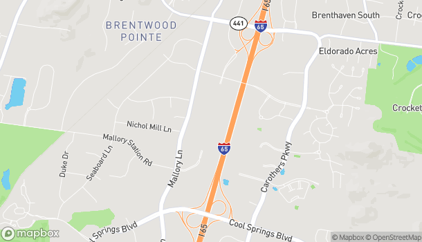 Map of 1800 Galleria Blvd in Franklin