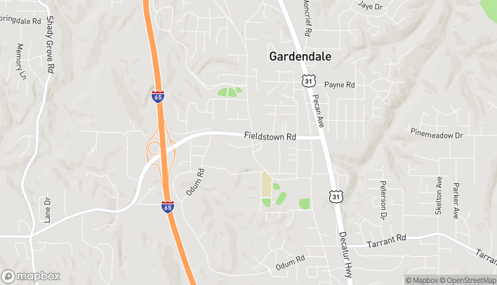 Map of 521 Fieldstown Rd in Gardendale