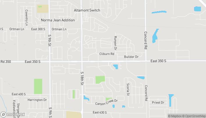Map of 2122 Veterans Memorial Parkway S in Lafayette