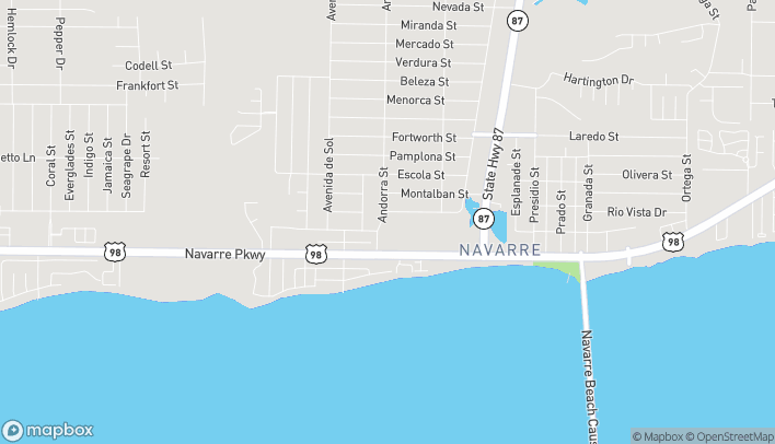 Map of 8232 Navarre Pkwy in Navarre