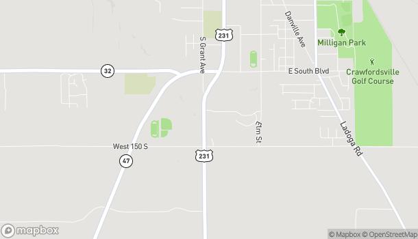 Mapa de 1548 S Washington St en Crawfordsville
