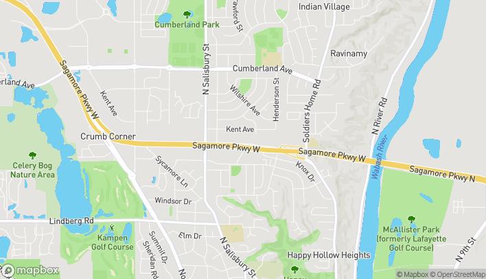 Mapa de 404 Sagamore Parkway Way en West Lafayette