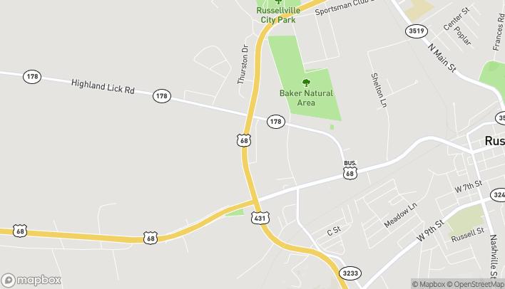Mapa de 125 Sam Walton Dr en Russellville