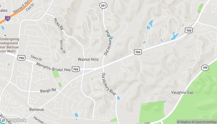 Mapa de 7032 Hwy 70 S en Nashville