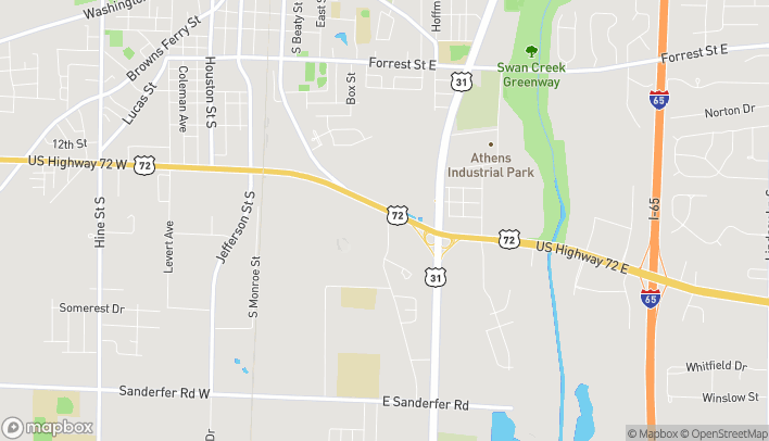 Map of 220 French Farms Blvd in Athens