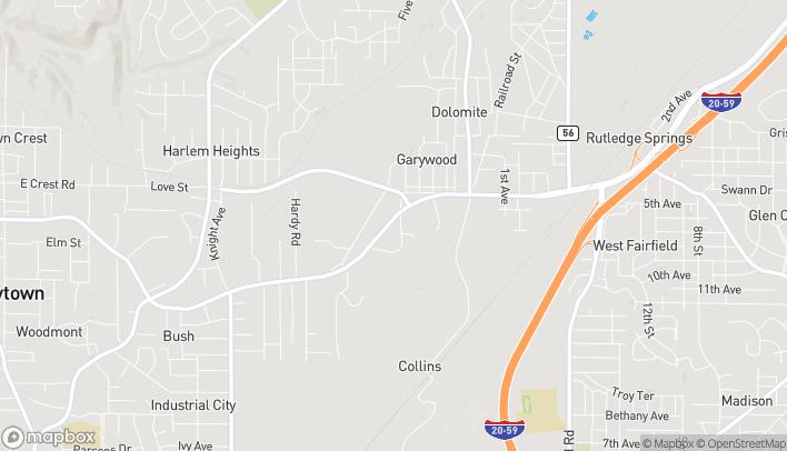 Map of 2711 Allison-Bonnett Memorial Drive in Hueytown