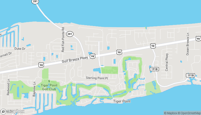 Map of 1472 Tiger Park Lane in Gulf Breeze