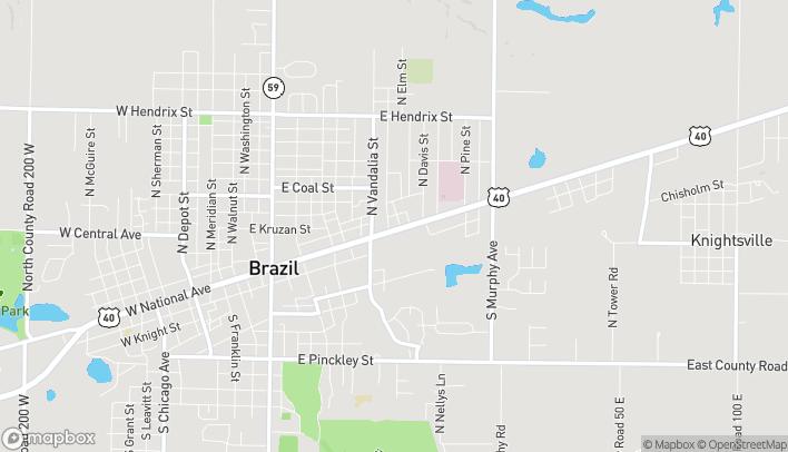 Mapa de 818 E National Ave en Brazil