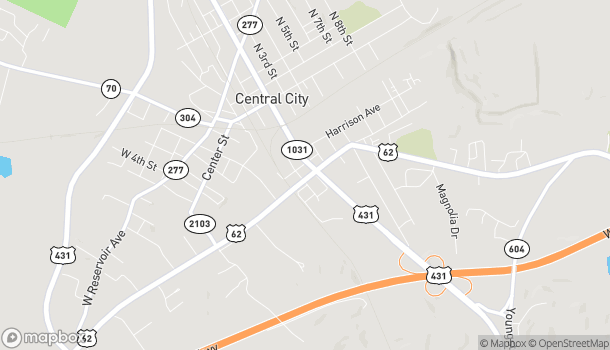 Map of 105 Everly Brothers Blvd in Central City