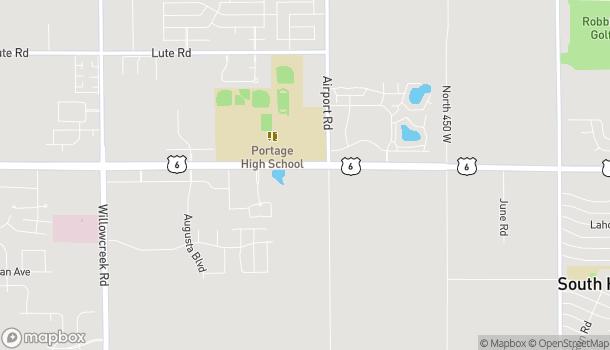 Mapa de 6441 US Highway 6 en Portage