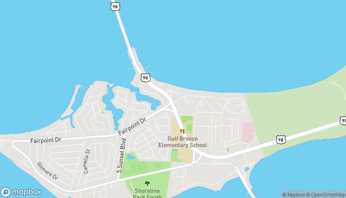 Map of 256 Gulf Breeze Pkwy in Gulf Breeze