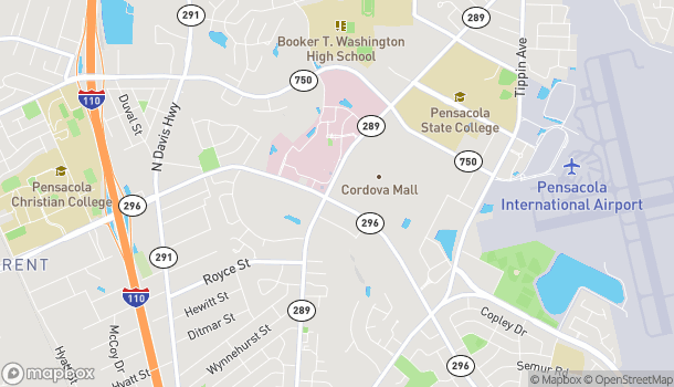 Map of 5090 N. 9th Ave in Pensacola