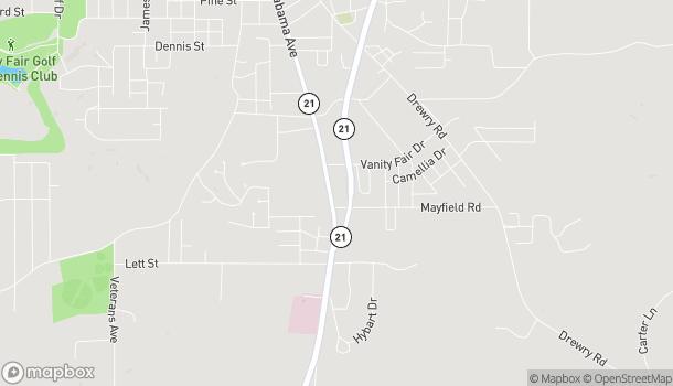 Mapa de 1465 S Alabama Avenue en Monroeville